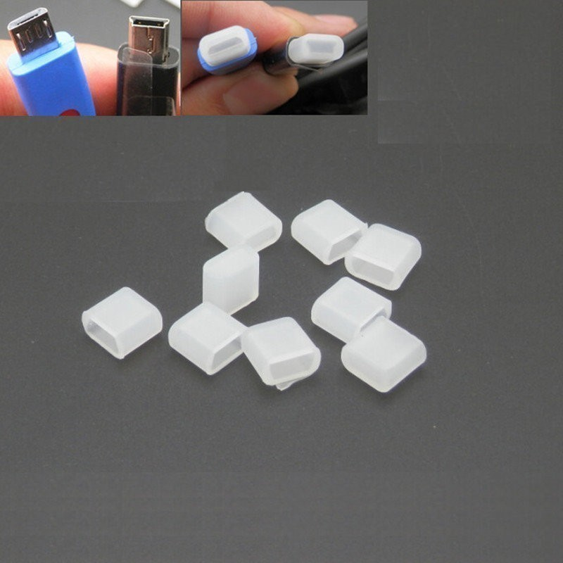 Mini Micro Usb Male Plug Connector Silicone Rubber Dust