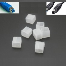 USB 3.0 Type-B Male Plug Connector Silicone Rubber Dust Cover