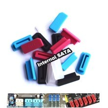 Motherboard Internal SATA Silicone Rubber Dust Cover